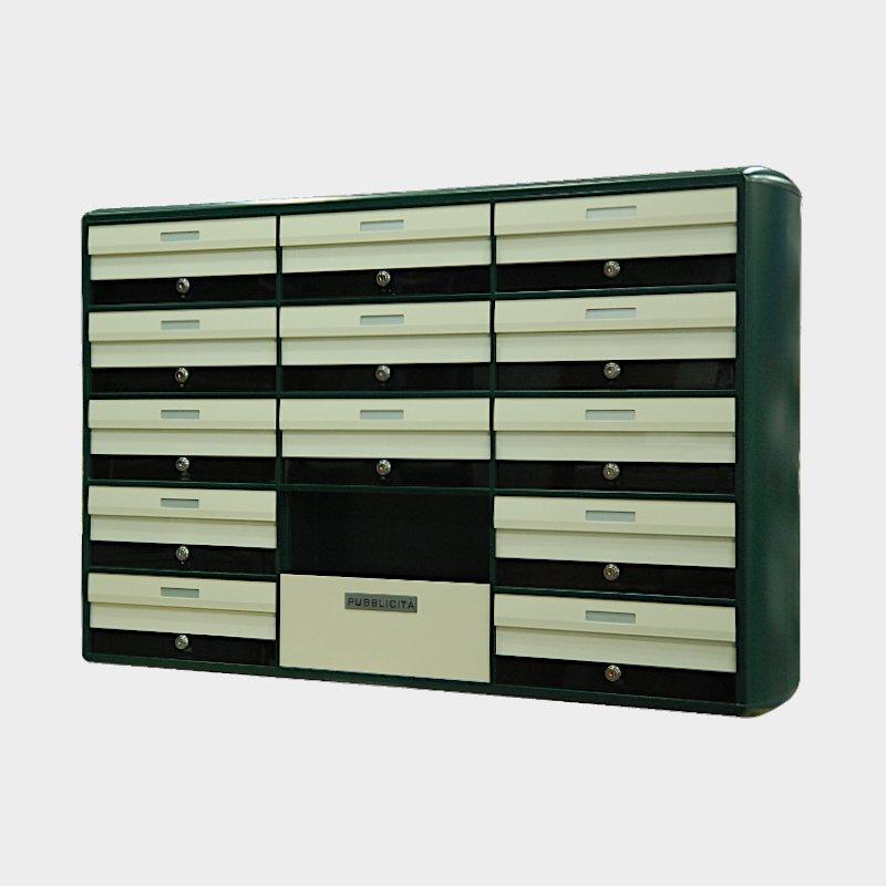 cassette postali condominiali colore ral 1013 e verde