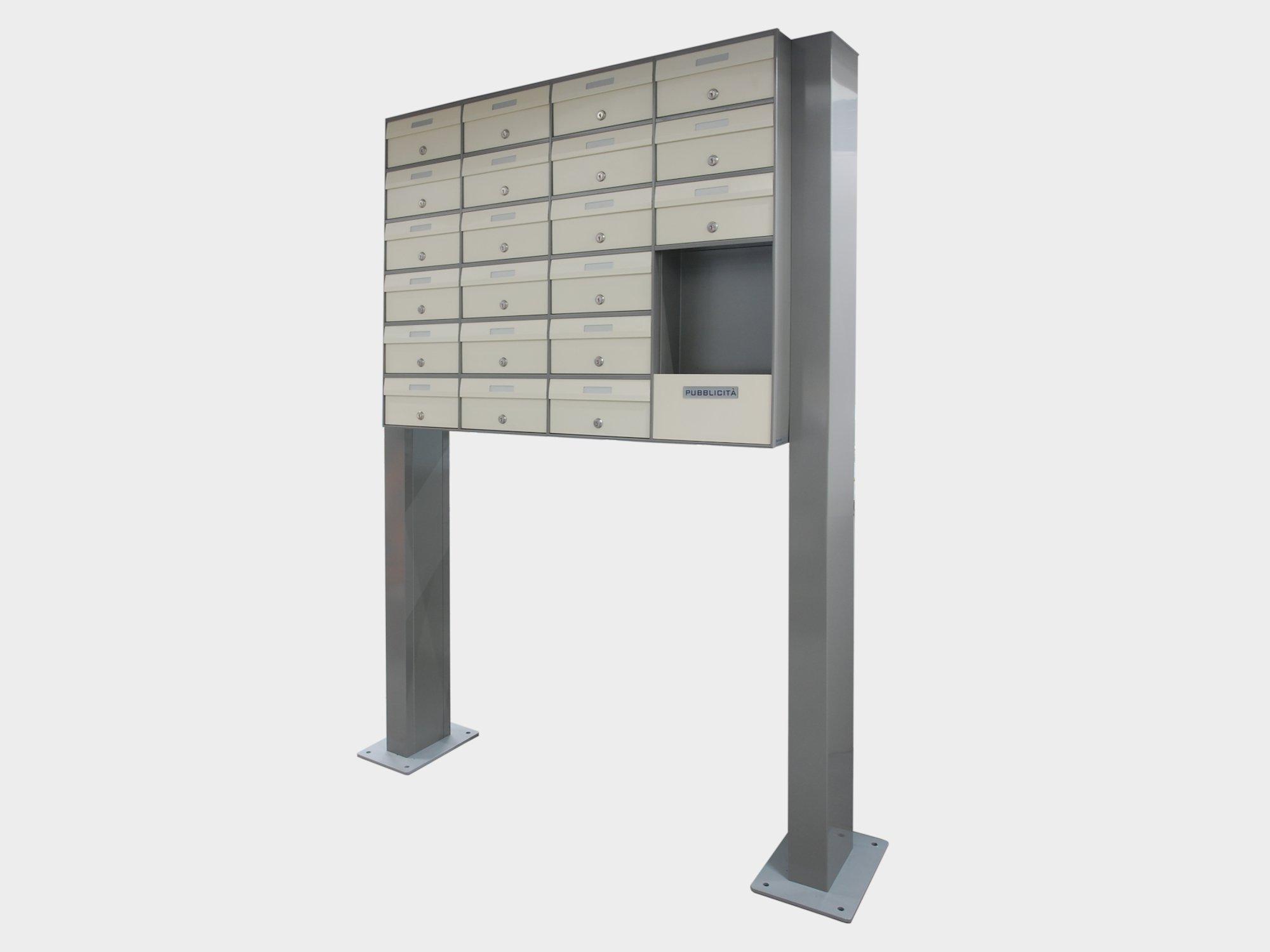 cassette postali da esterno con piedistalli
